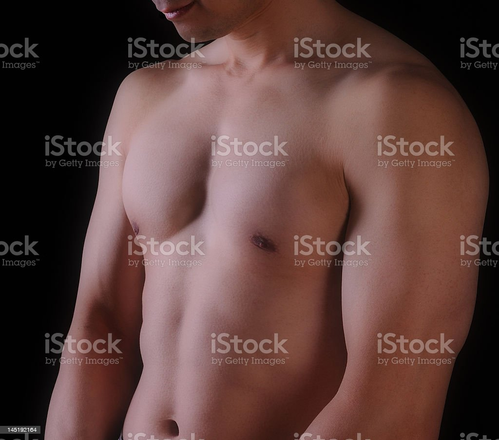 Chest, Arms, and Stomach royalty-free stock photo