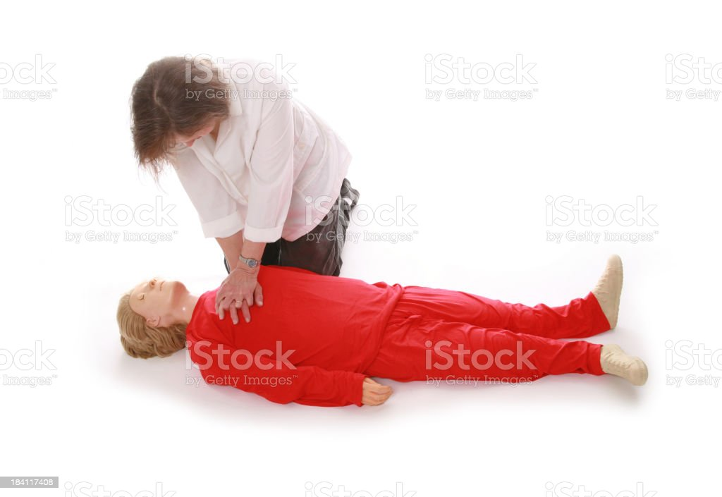 Chest Compressions royalty-free stock photo