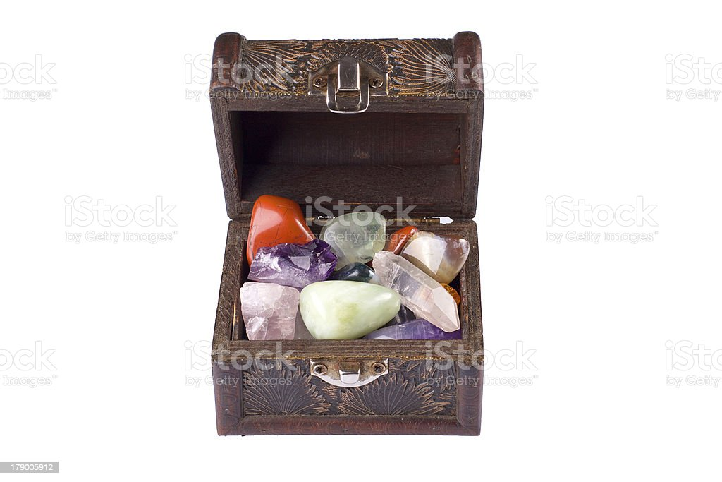Chest full of jewels royalty-free stock photo
