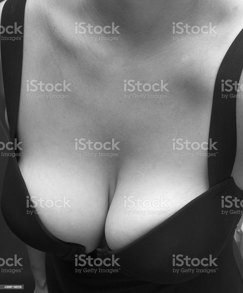 Chest In Black & White stock photo