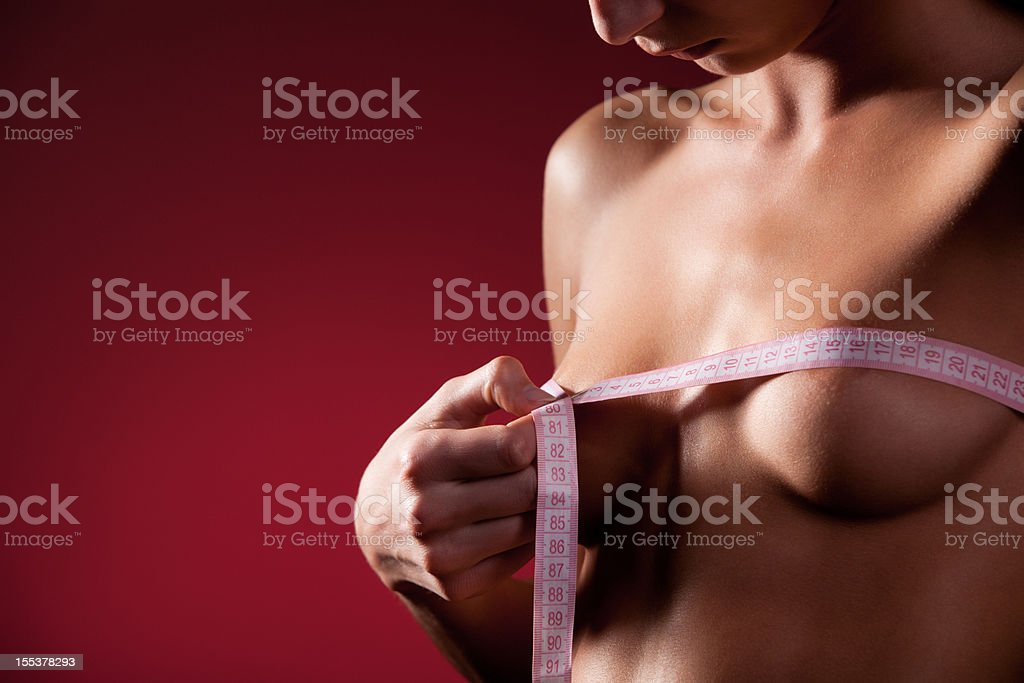 Chest measuring royalty-free stock photo