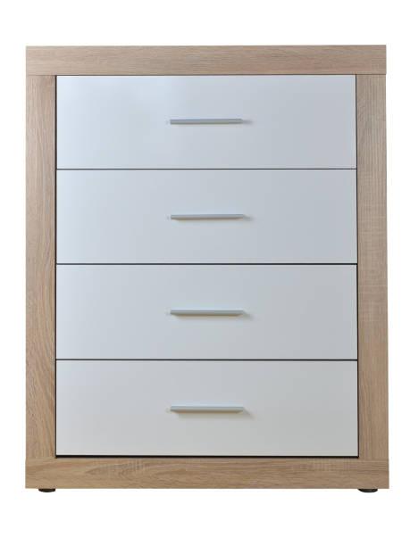 chest of four drawers - schubladenkommode weiß stock-fotos und bilder