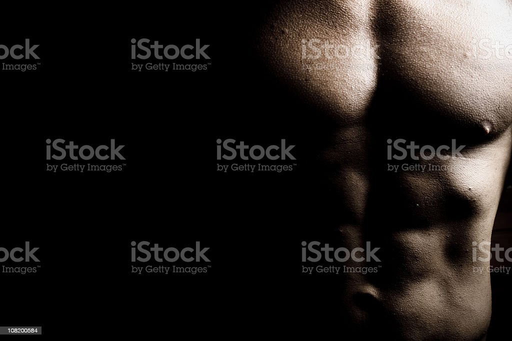 Chest of Male Body Builder royalty-free stock photo