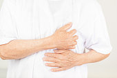 istock Chest pain in old women 671880352