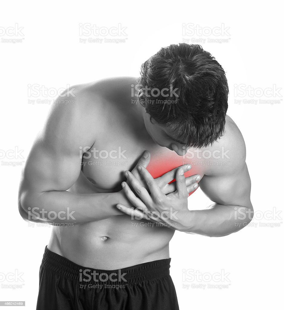 Chest Pain royalty-free stock photo