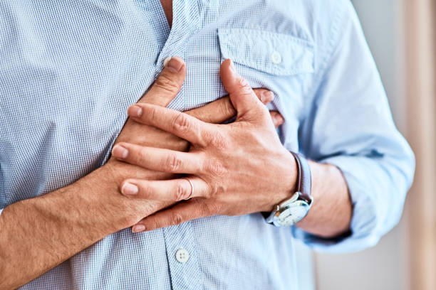chest pains are never a good sign - human heart stock photos and pictures