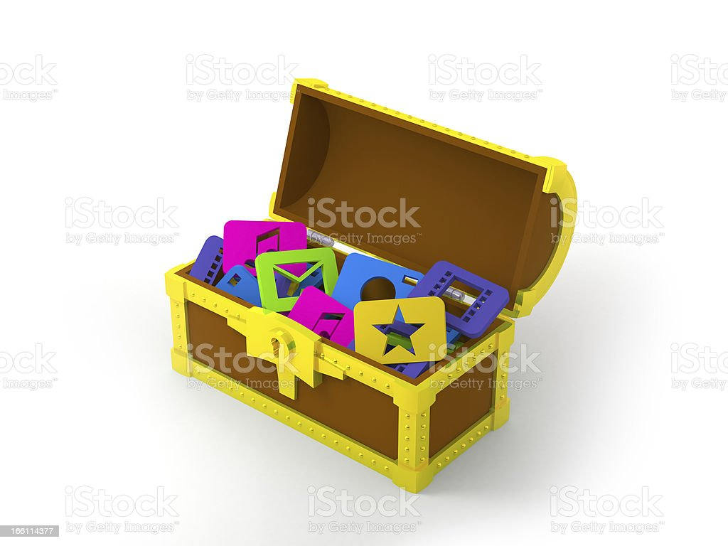 chest with application software royalty-free stock photo