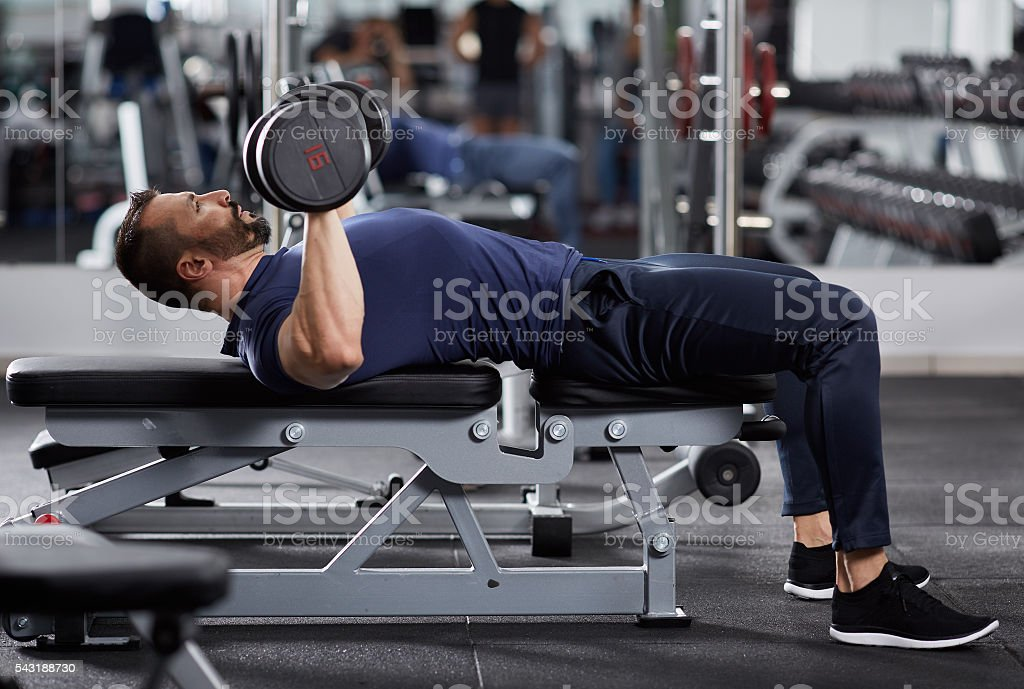 Chest workout stock photo