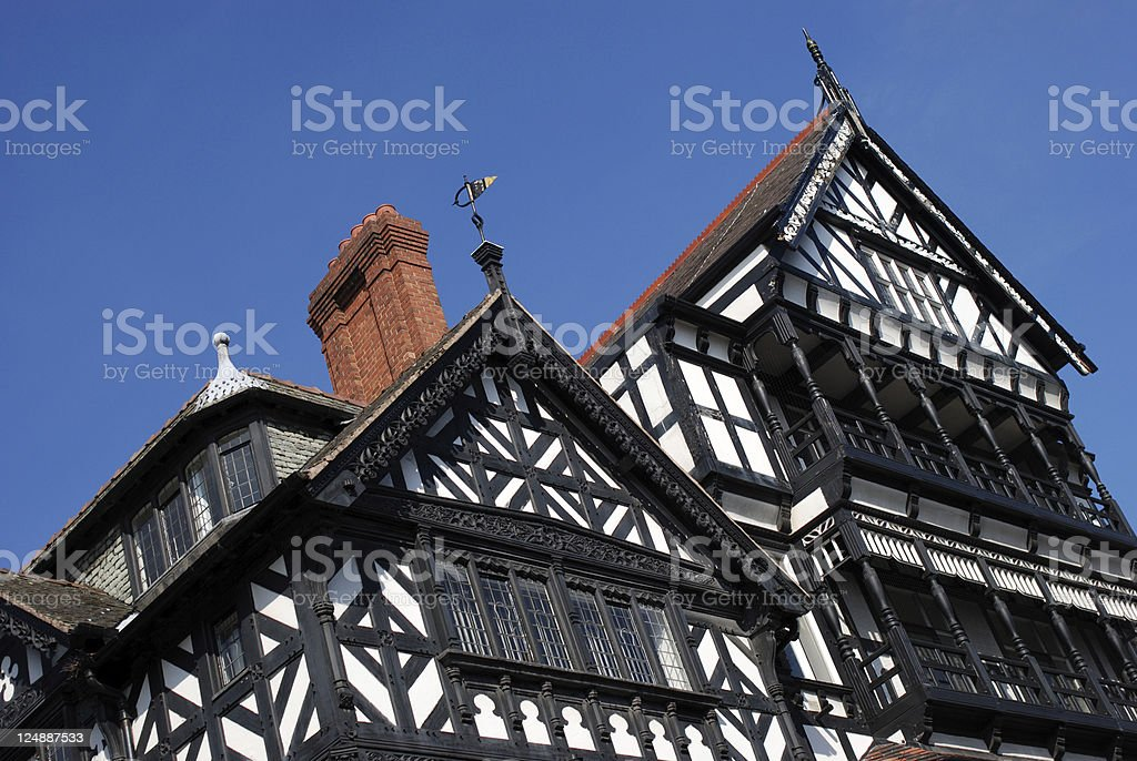 Chester architecture stock photo