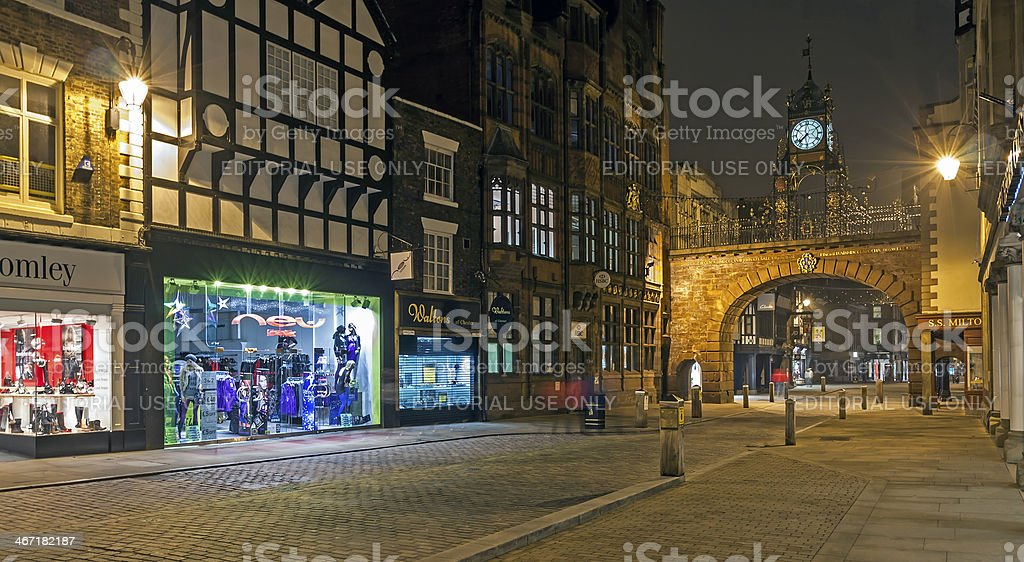 Chester At Night stock photo