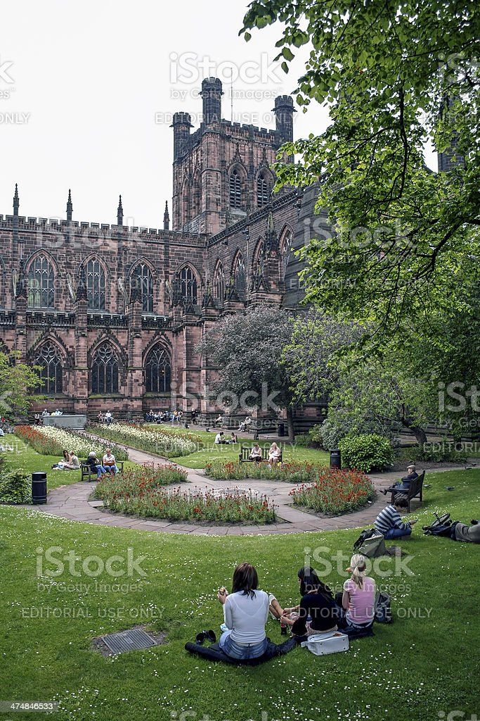 Chester Cathedral, Cheshire royalty-free stock photo