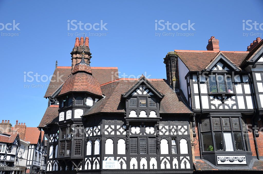 Chester City Centre Architecture Style royalty-free stock photo