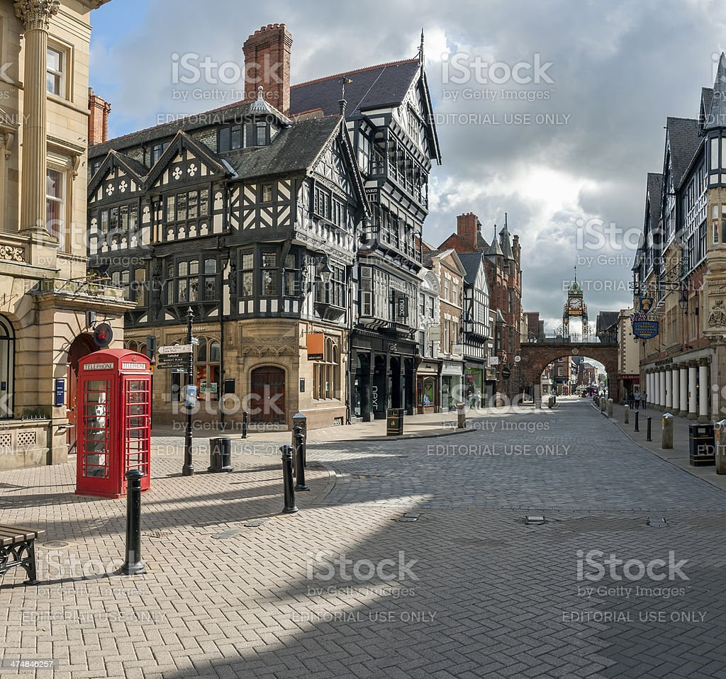 Chester city centre. stock photo