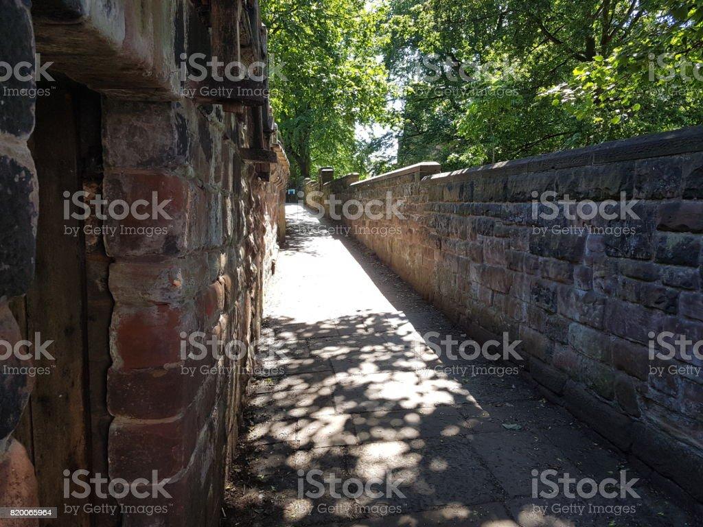 Chester City Centre - Roman Walls stock photo