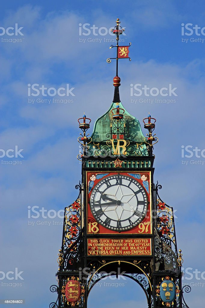 Chester Clock Tower, Chester, UK stock photo
