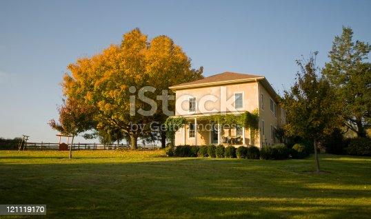 A farmhouse in Chester County, Pennsylvania USA very early in the morning. Same farm: