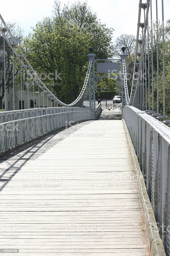 Chester Foot Bridge royalty-free stock photo