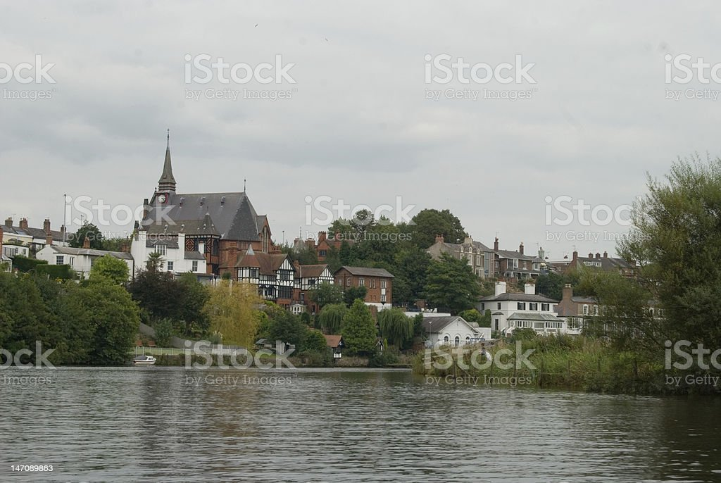 Chester from the Dee royalty-free stock photo