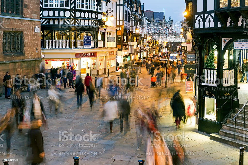 Chester Shopping stock photo
