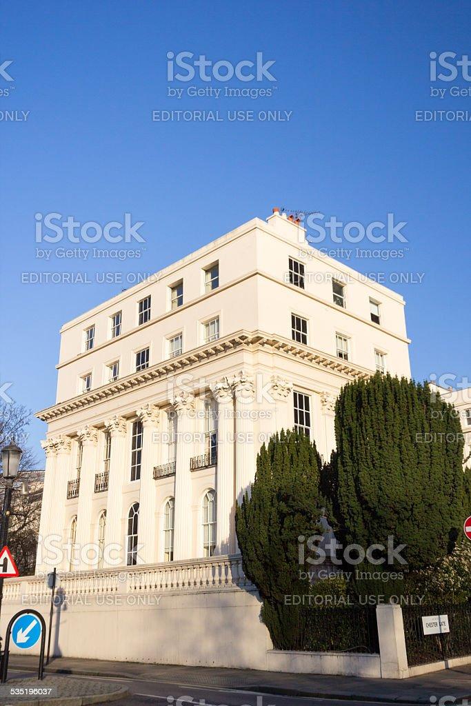 Chester Terrace in Regent's Park, London stock photo