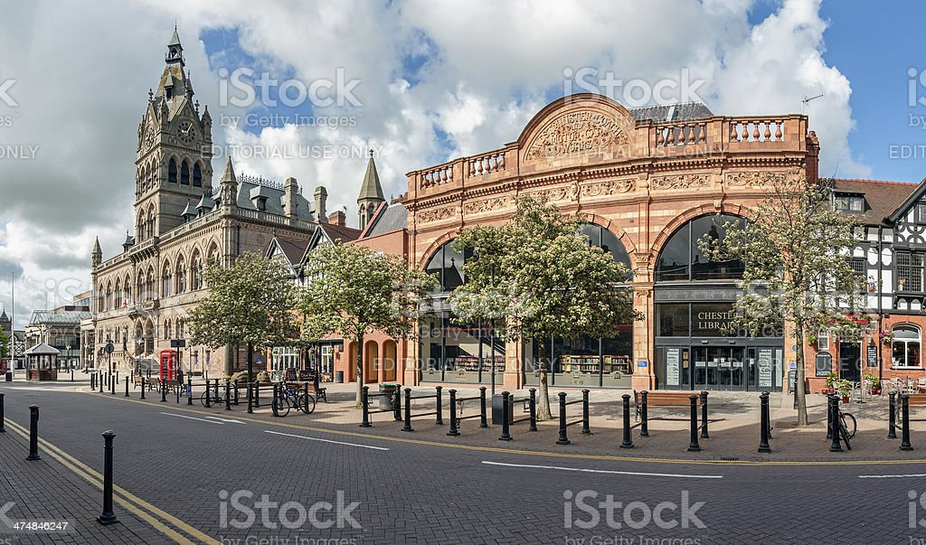 Chester  Town Hall and Library stock photo