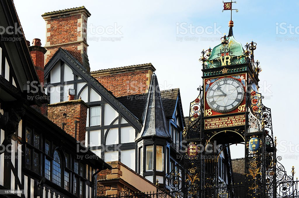 Chester Walls Clock stock photo