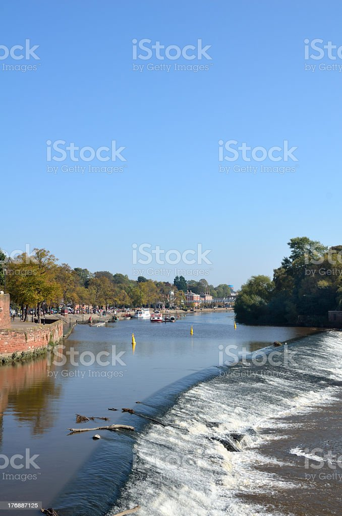 Chester Weir on the River Dee stock photo