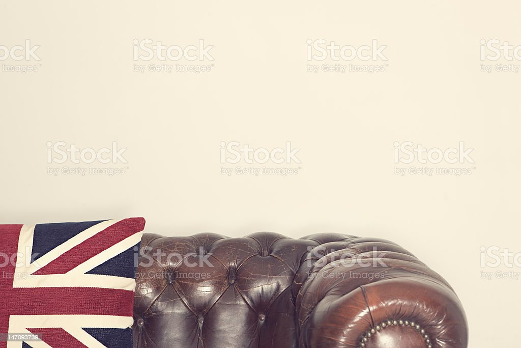 Chesterfield Couch stock photo