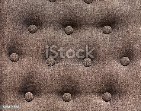 istock Chesterfield styled furniture with buttons closeup 846374566