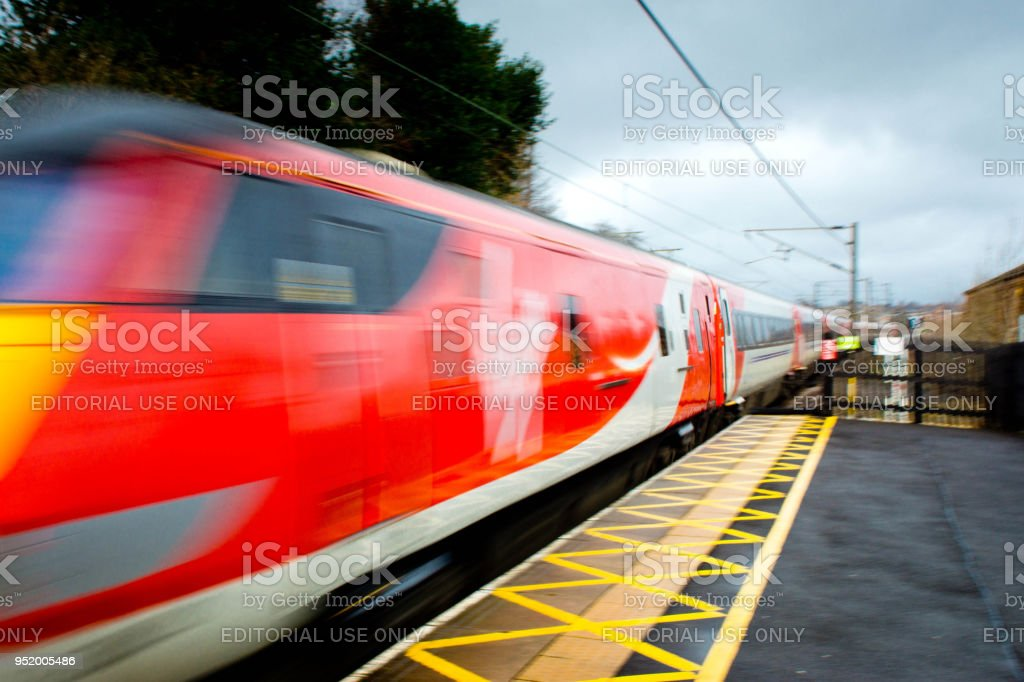 Chester-le-Street railway line stock photo