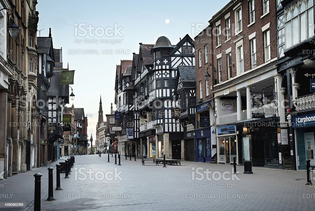 Chester's East Gate Row near dawn royalty-free stock photo