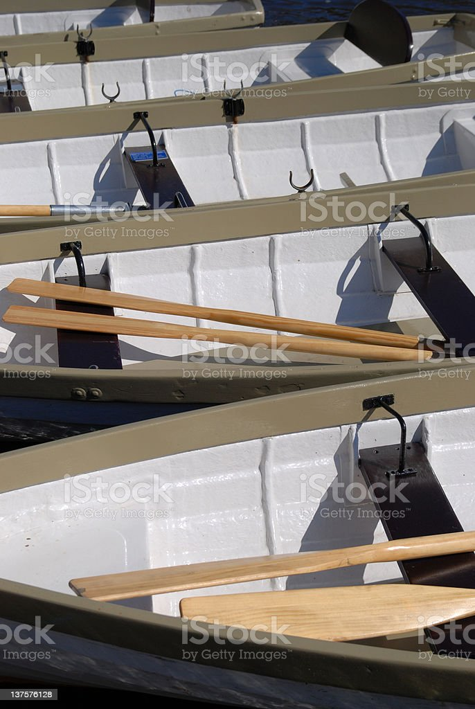Chester's rowboats royalty-free stock photo