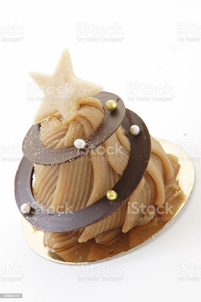 Chestnut Chocolate Cake royalty-free stock photo