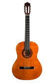 istock Chestnut colored 6-string acoustic guitar 172963467