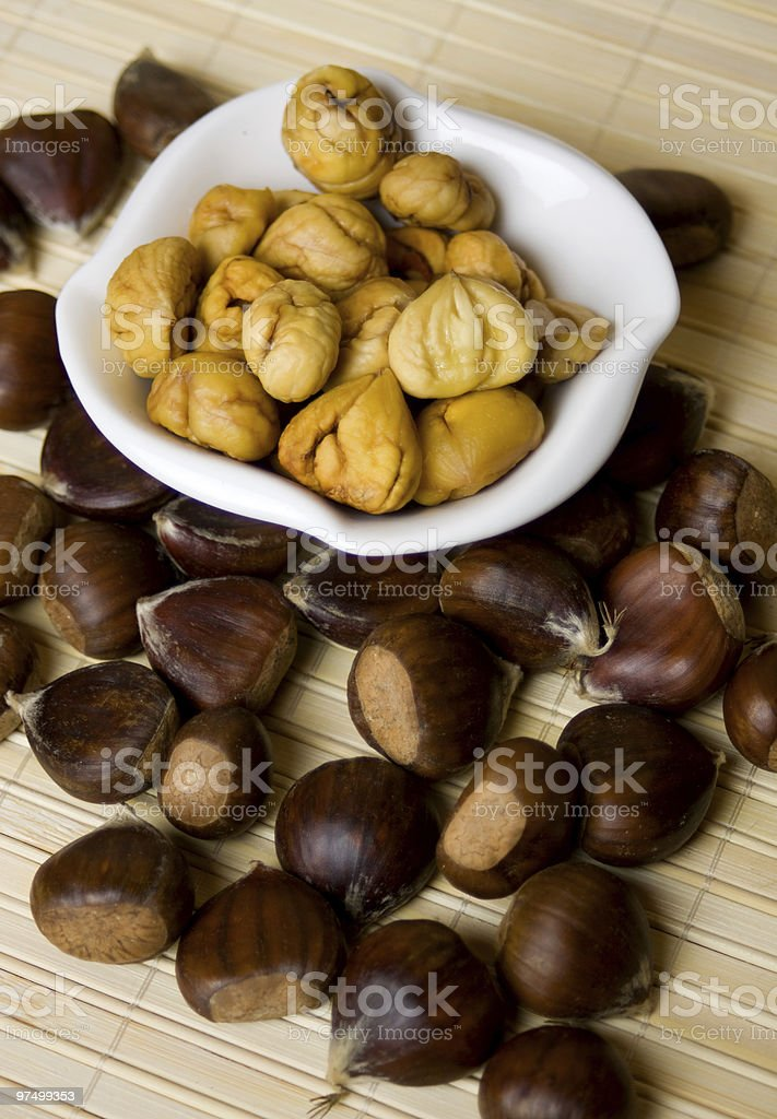 Chestnut fruit royalty-free stock photo