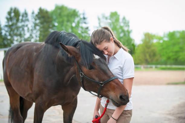 Chestnut horse together with her favorite owner young teenage girl picture id1130275999?b=1&k=6&m=1130275999&s=612x612&w=0&h=b8l3cjvabznr5zqjbx84utf3ynybs7bwh8bajrefbrc=