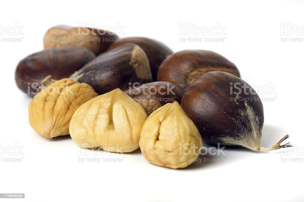 Chestnut isolated on white royalty-free stock photo