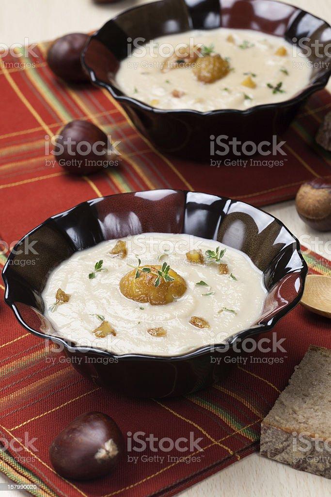 Chestnut Kohlrabi Soup royalty-free stock photo