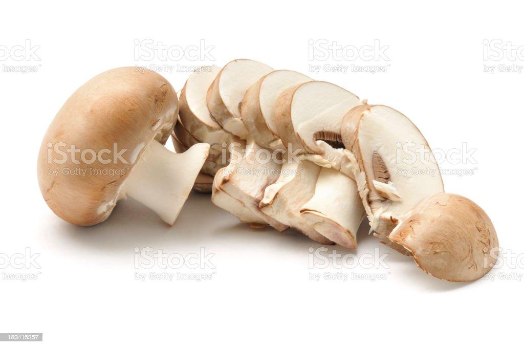 Chestnut Mushroom sliced royalty-free stock photo