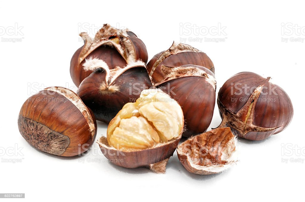 chestnuts roasted stock photo