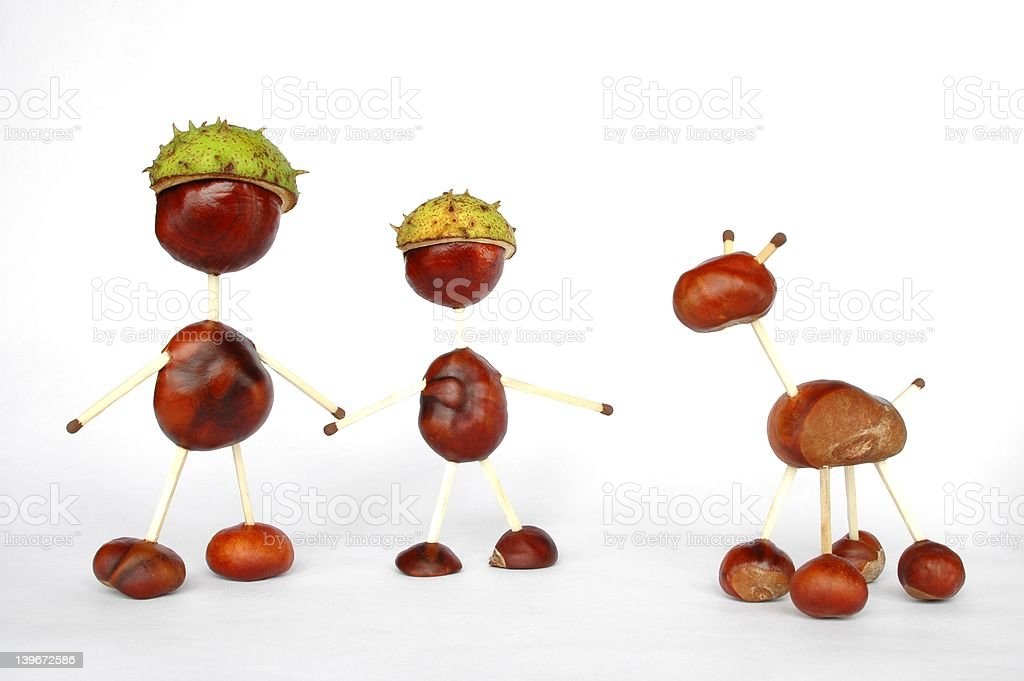 Chestnuts Toys royalty-free stock photo