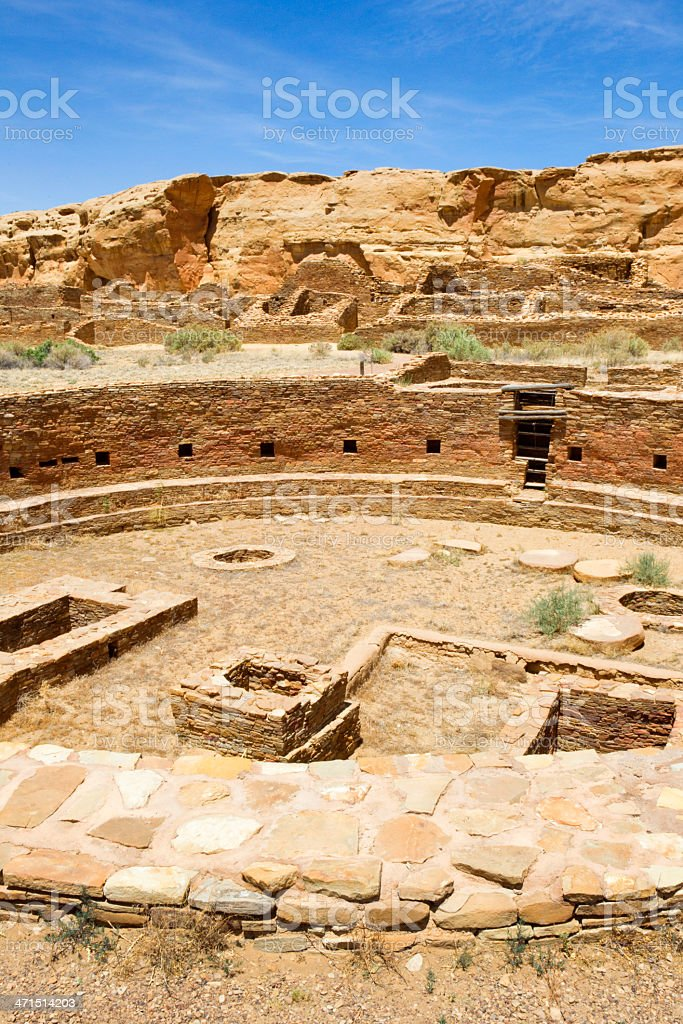 Chetro Ketl Ruins - Chaco Culture National Historical Park royalty-free stock photo