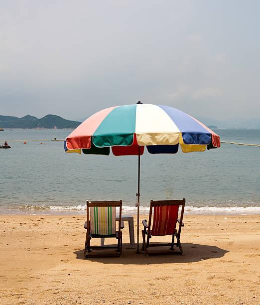 Insel Cheung Chau Island Beach Umbrella – Foto