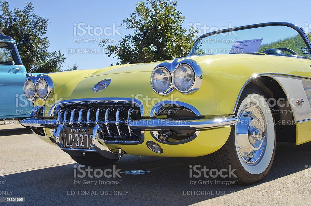 Chevrolet 1958 Corvette Convertible stock photo
