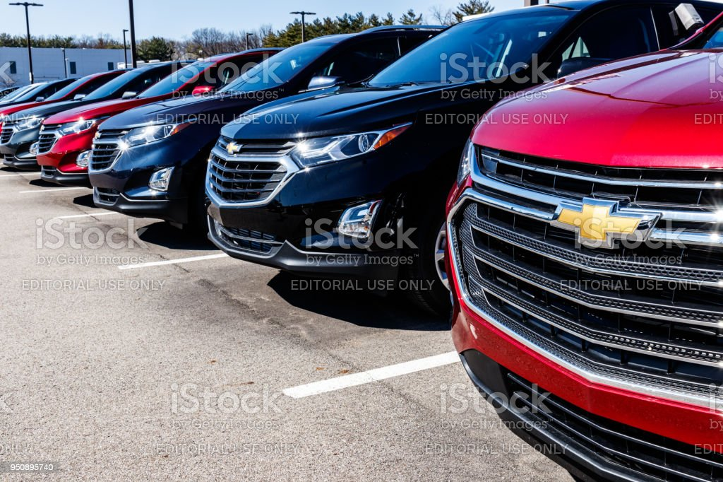 Chevrolet Automobile Dealership. Chevrolet is a Division of General Motors II stock photo