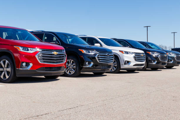 Chevrolet Automobile Dealership. Chevy is a Division of General Motors II stock photo