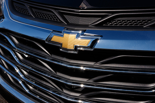 Noblesville - Circa April 2019: Chevrolet Automobile Dealership. Chevy is a Division of General Motors