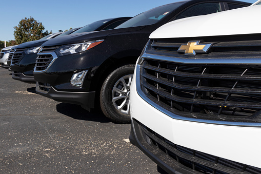 Plainfield - Circa September 2020: Chevrolet Automobile Dealership. Chevy is a Division of General Motors and makes the Trax, Cruze and Traverse.