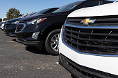 istock Chevrolet Automobile Dealership. Chevy is a Division of General Motors and makes the Trax, Cruze and Traverse. 1276468974