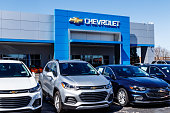 Noblesville - Circa March 2018: Chevrolet Automobile Dealership. Chevy is a Division of General Motors IX